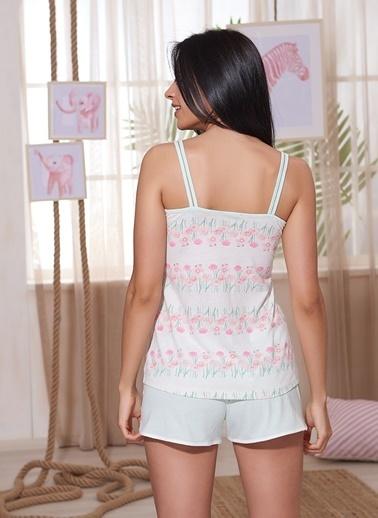 Sevim Pijama Takım Renkli
